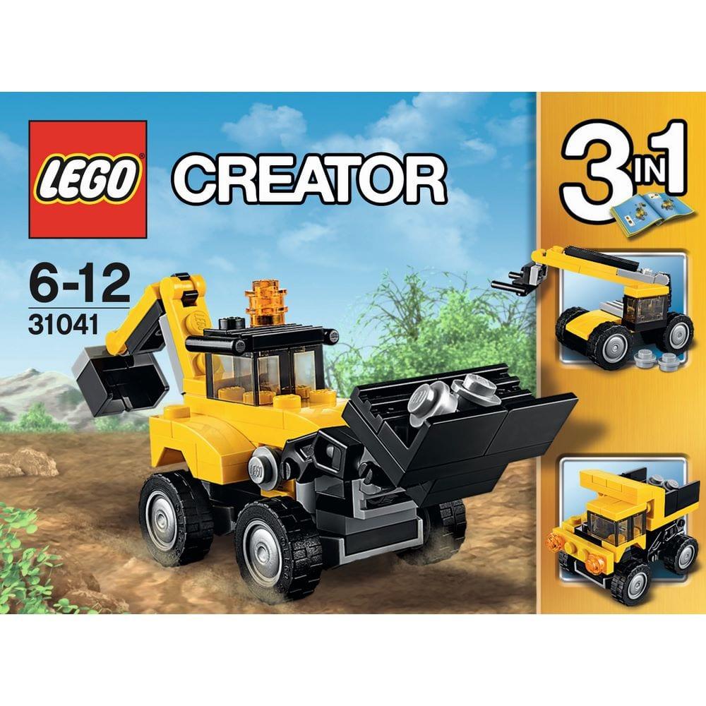 לגו קריאטור - טרקטור צהוב 31041