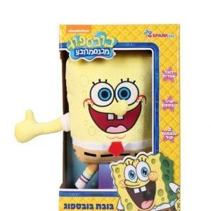 בובת בוב ספוג גדולה דוברת עברית