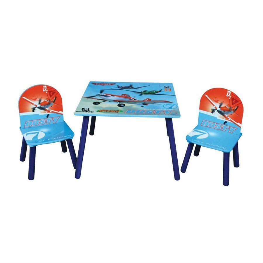 סט שולחן ו-2 כיסאות מטוסים