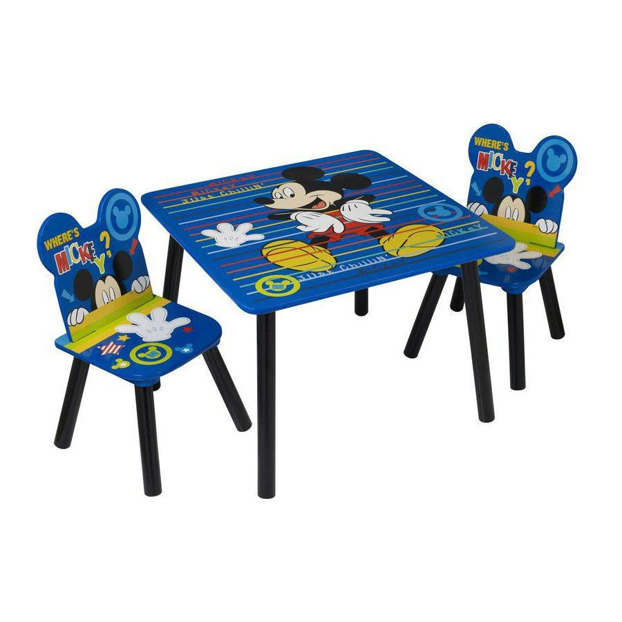 סט שולחן ו-2 כיסאות מיקי מאוס