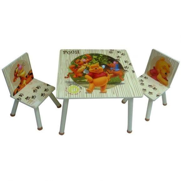 סט שולחן ו-2 כיסאות פו הדוב