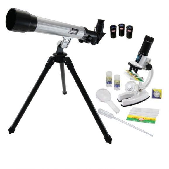 ערכת מיקרוסקופ וטלסקופ