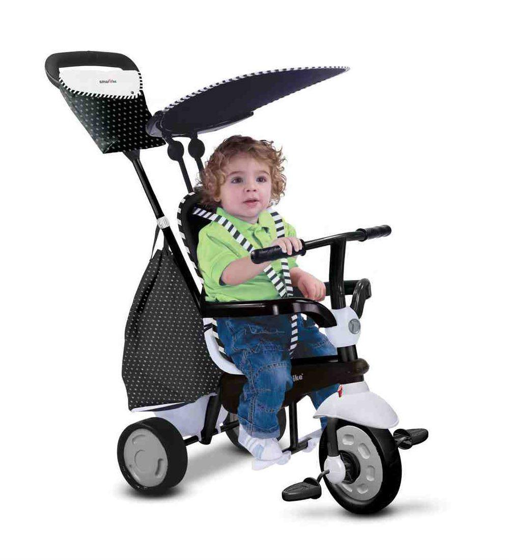 Smart Trike Glow - שחור לבן
