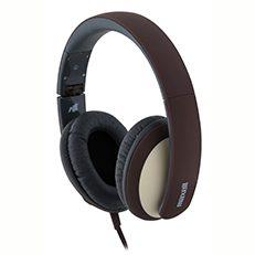 אוזנית ראש עם מיקרופון - חום