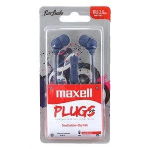 אוזניות סיליקון עם מיקרופון - כחול