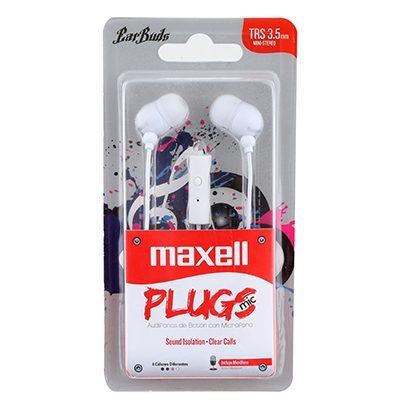 אוזניות סיליקון עם מיקרופון - לבן