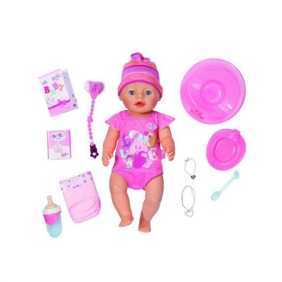 בובת תינוק אינטרקטיבית ורודה - בייבי בורן