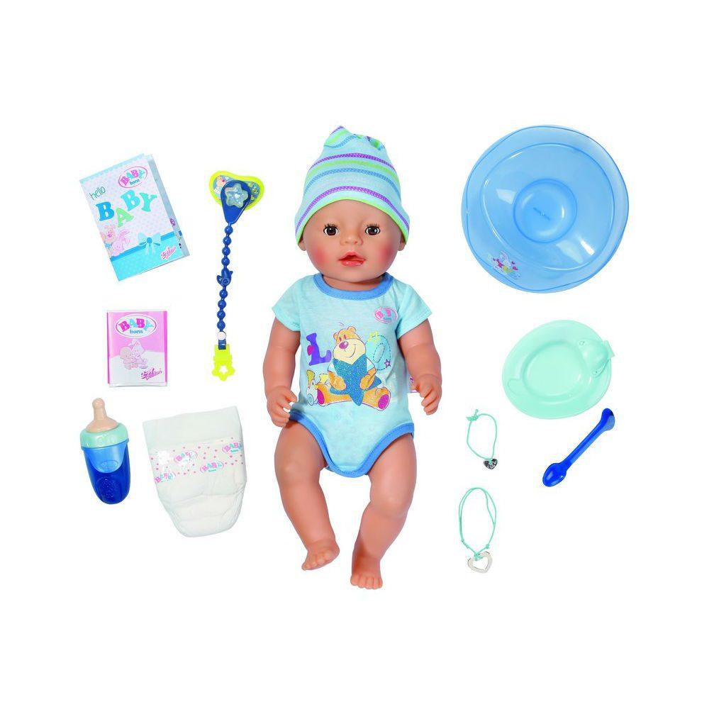 בובת תינוק אינטרקטיבית כחולה - בייבי בורן