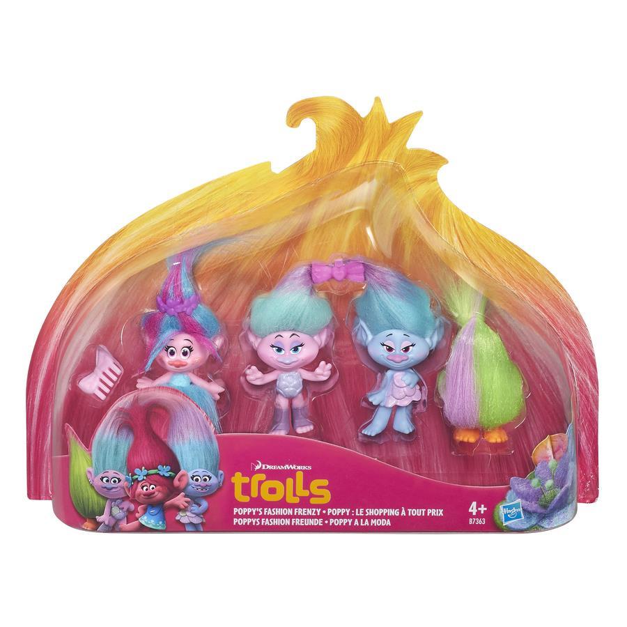 טרולס – מארז ארבע דמויות ואביזרים