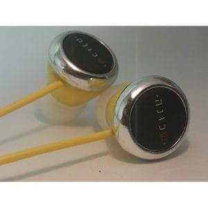 אוזניות סיליקון צהוב/שחור