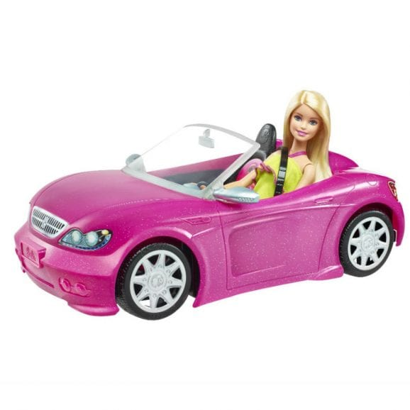 מכונית ברבי ורודה