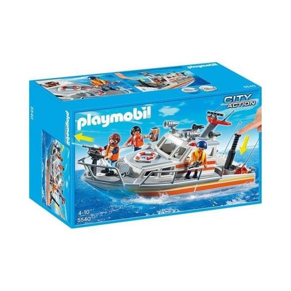 סירת הצלה עם צינור מים