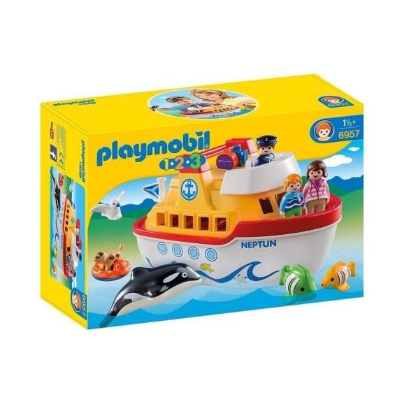 ספינה 1,2,3 לנשיאה כולל חיות ודמויות - פליימוביל 6957