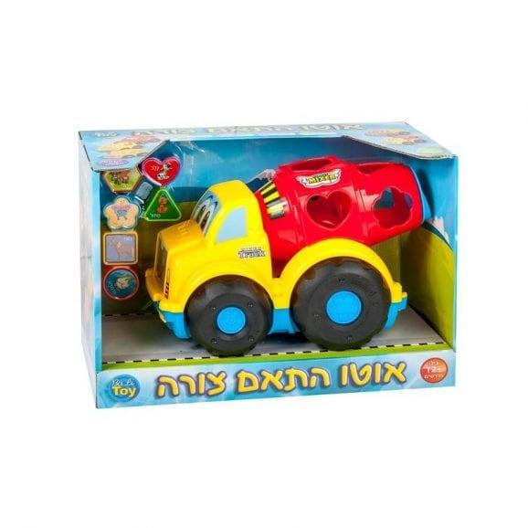 משאית בטון התאם צורה לילדים
