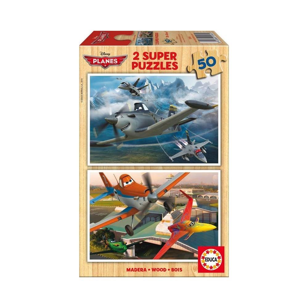 מארז 2 פאזלים מטוסים הסרט - 50 חלקים