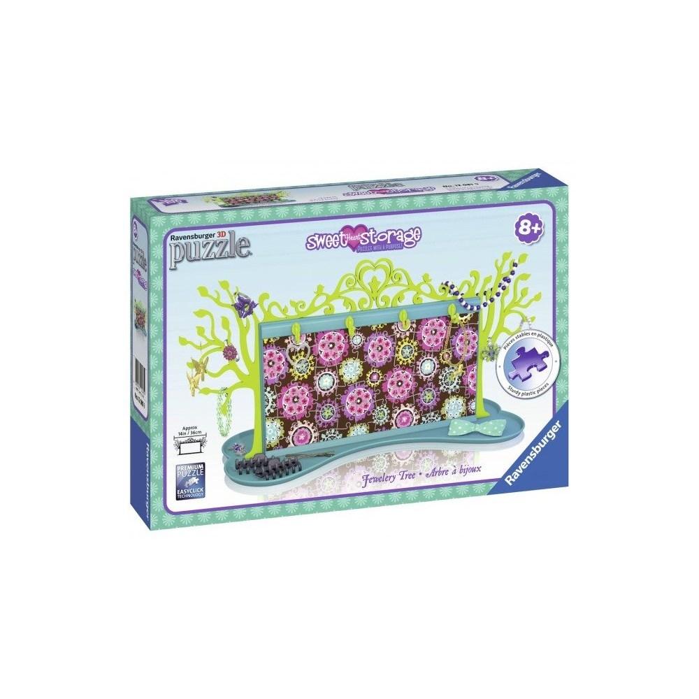 פאזל תלת מימד עץ תכשיטים פרחים - 108 חלקים