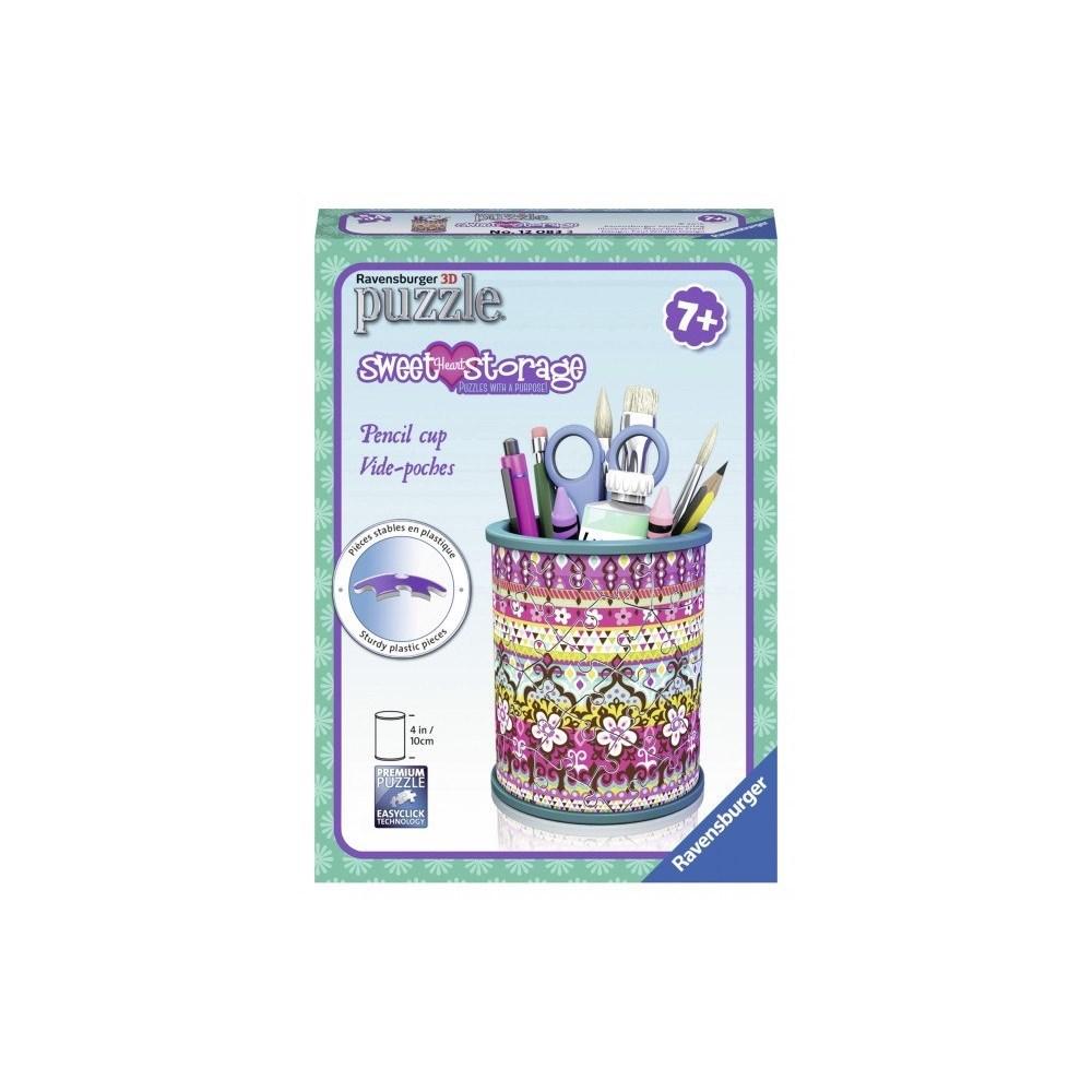 פאזל תלת מימד מתקן לעפרונות פרחים - 54 חלקים