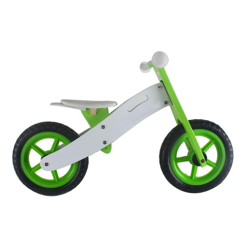 אופני איזון מעץ ירוק