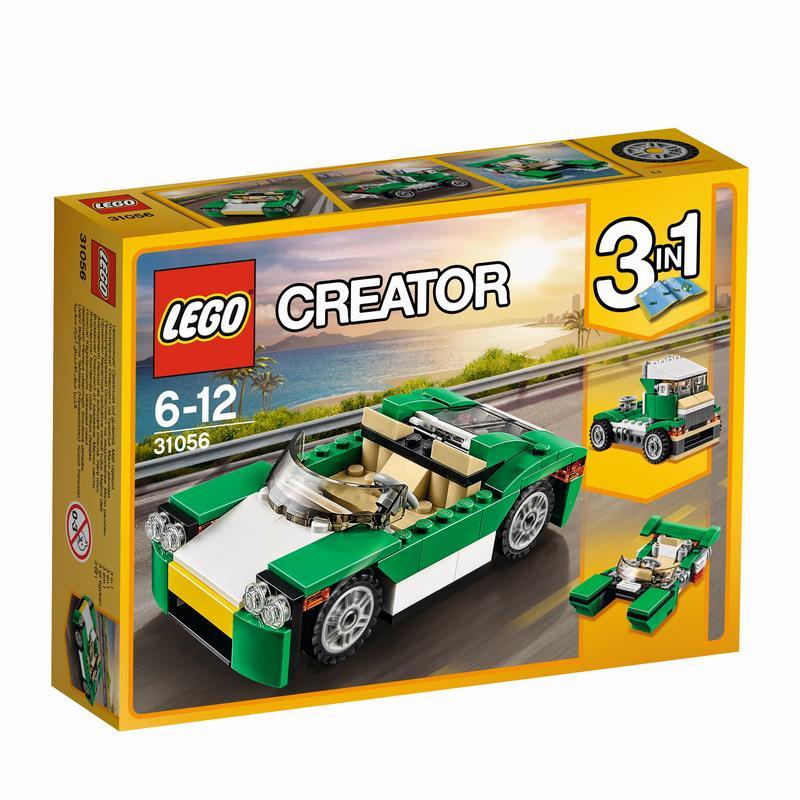 לגו קריאטור - מכונית מירוץ ירוקה 31056