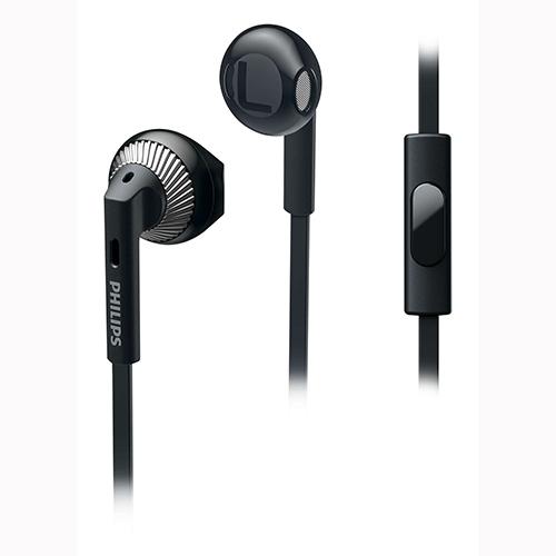 אוזניה IN Ear מיקרופון שחור