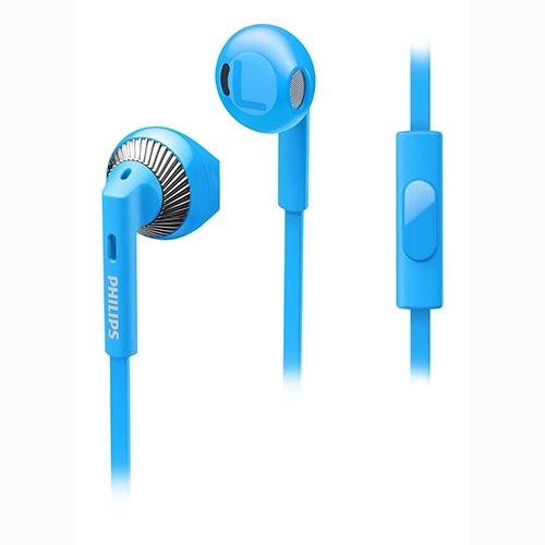אוזניה IN Ear מיקרופון כחול