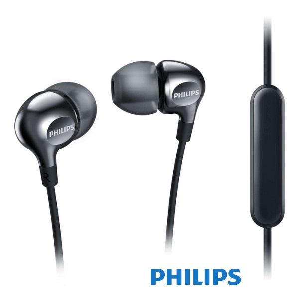 אוזניות סיליקון ומיקרופון פיליפס שחור