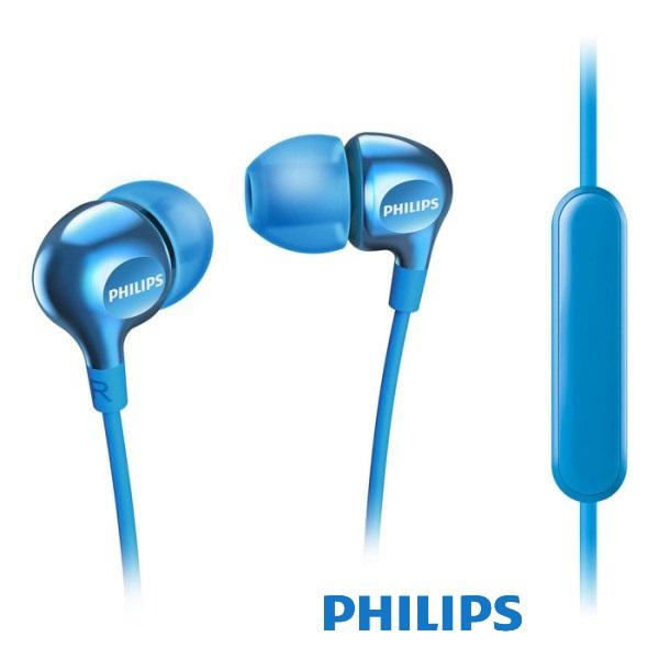 אוזניות סיליקון ומיקרופון פיליפס כחול
