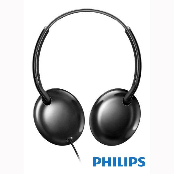אוזניות פיליפס קלות עם מיקרופון שחור