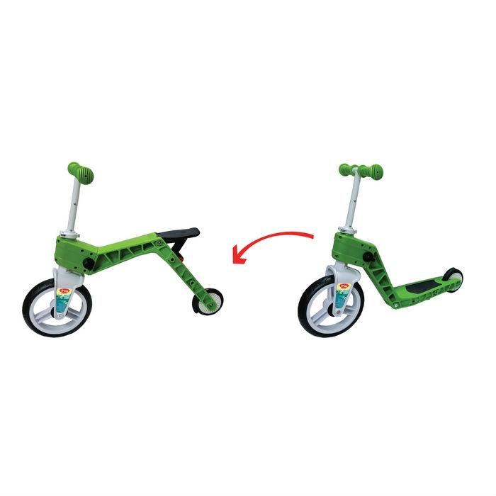 אופני ריצה וסקוטר משולב - ירוק
