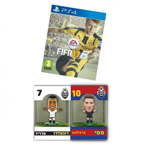 סט PS4 FIFA 17 + זוג דמויות סופר קלאסיקו