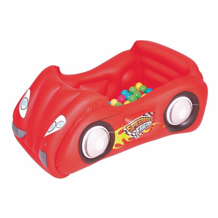 בריכת כדורים בצורת מכונית 119X79X51 - אדום