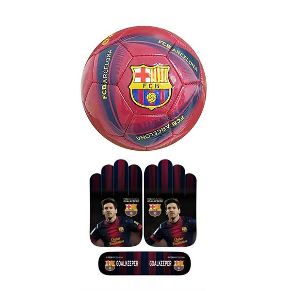 סט כדור וכפפות ברצלונה