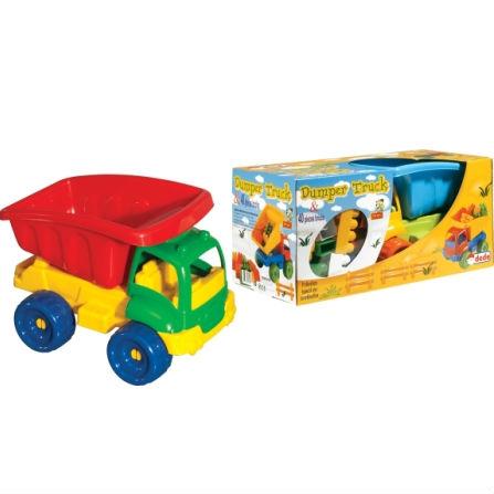 משאית עפר גדולה לילדים + אבני בניה