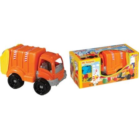 משאית זבל גדולה לילדים + אבני בניה