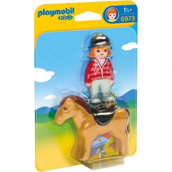 פרשית על סוס לגיל הרך פליימוביל 6973