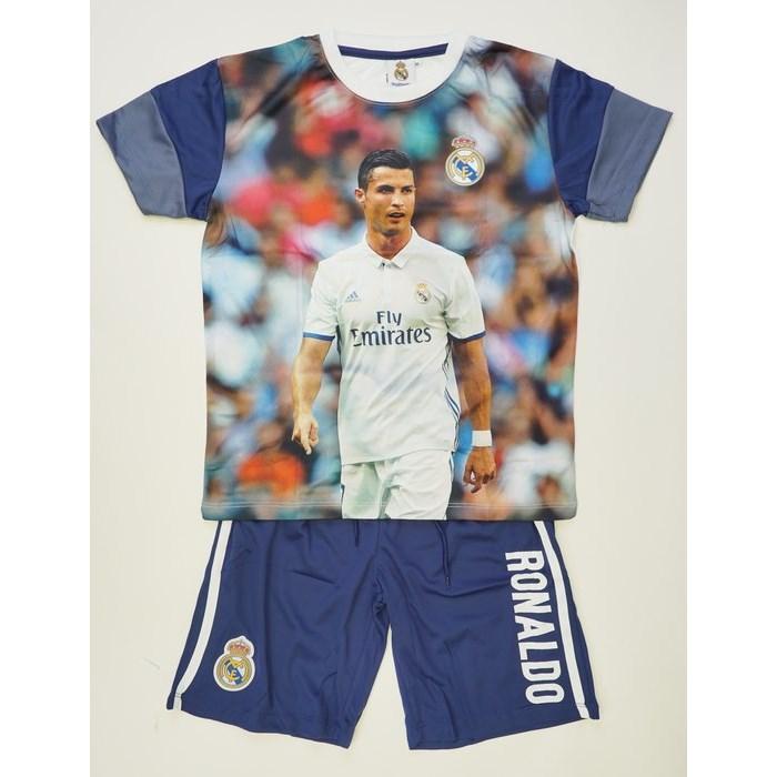 חליפת כדורגל ריאל מדריד רונלדו מכנס כחול