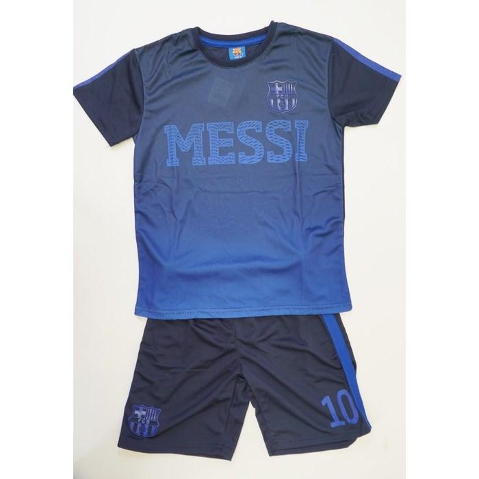 חליפת ברצלונה לוגו מסי חולצה כחולה
