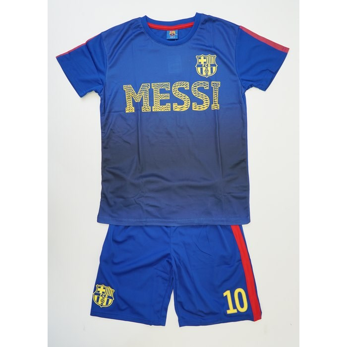 חליפת ברצלונה לוגו מסי כחול צהוב