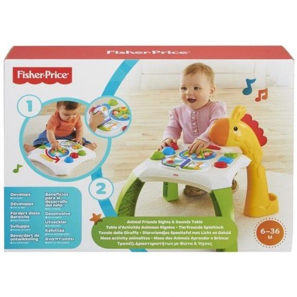 שולחן פעילות ג'ירף לתינוק - פישר פרייס