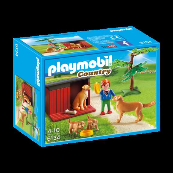 כלבי גולדן רטריבר עם צעצוע פליימוביל 6134
