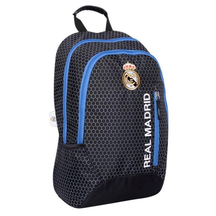 תיק ריאל מדריד רוכסן קדמי שחור/כחול-Real Madrid