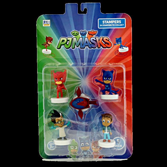 מארז בליסטר 5 דמויות כוח פיג'יי + 5 מעטפות חותמת
