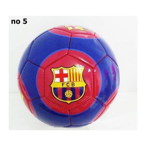 כדורגל מס' 5 ברצלונה כחול רקע לוגו אדום