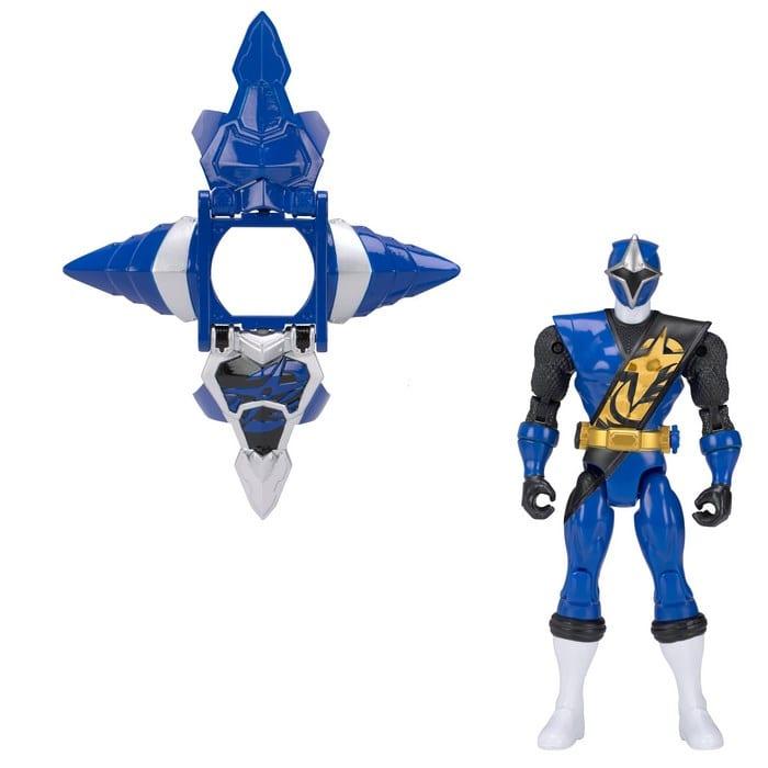 פאוור רינג'רס נינג'ה דמות עם שריון - כחול