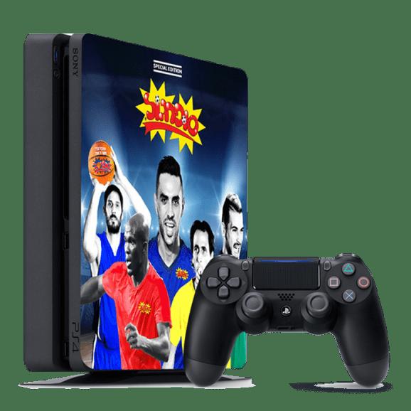 """קונסולת PS4 """"סופרגול"""" כולל פיפא 2018 ושני בקרים"""