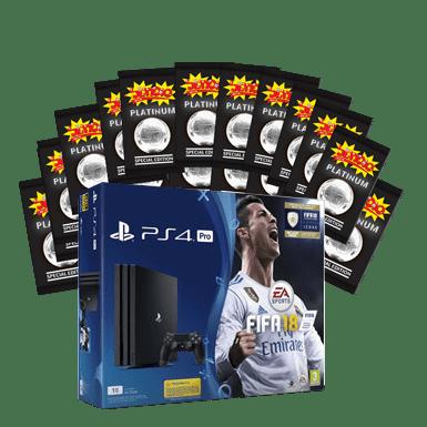 PS4 PRO סוני פלייסטיישן 4 פרו – 1 טרה כולל בקר ומשחק פיפא 2018+מעטפות פלטינום