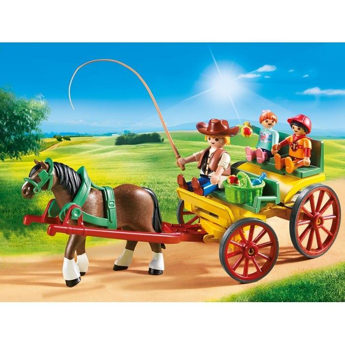 פליימוביל עגלה עם סוס ודמויות 6932
