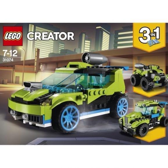 לגו קריאטור מכונית ראלי ירוקה 31074