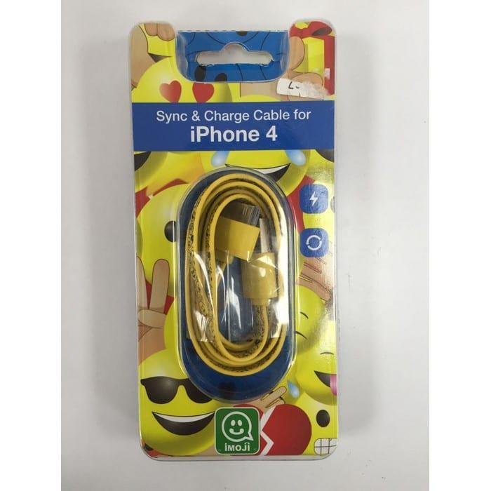 מטען לאייפון 4 כבל USB אימוג'י