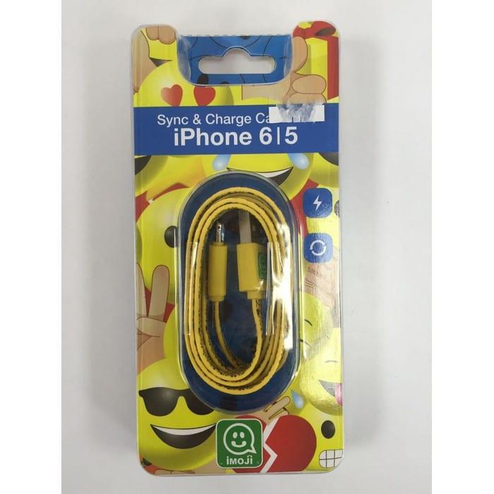 מטען לאייפון 5|6 כבל USB אימוג'י